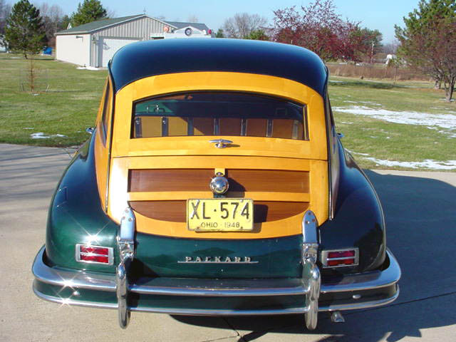 1948 Packard 8 Station Wagon Woodie Woody, rear view