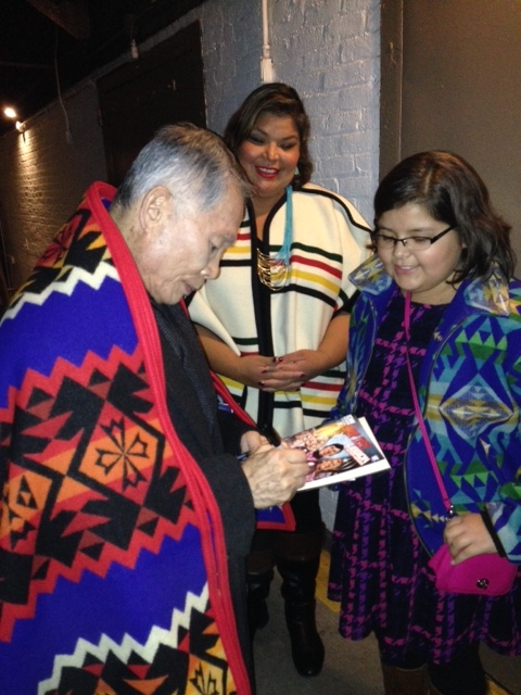 George Takei sings an autograph