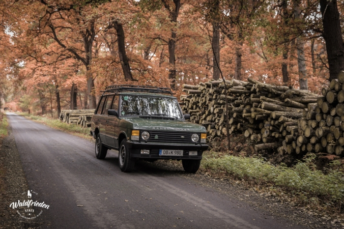 Vintage Range Rover, on the road