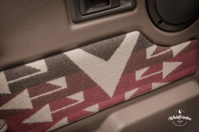 Range Rover interior with Pendleton fabric