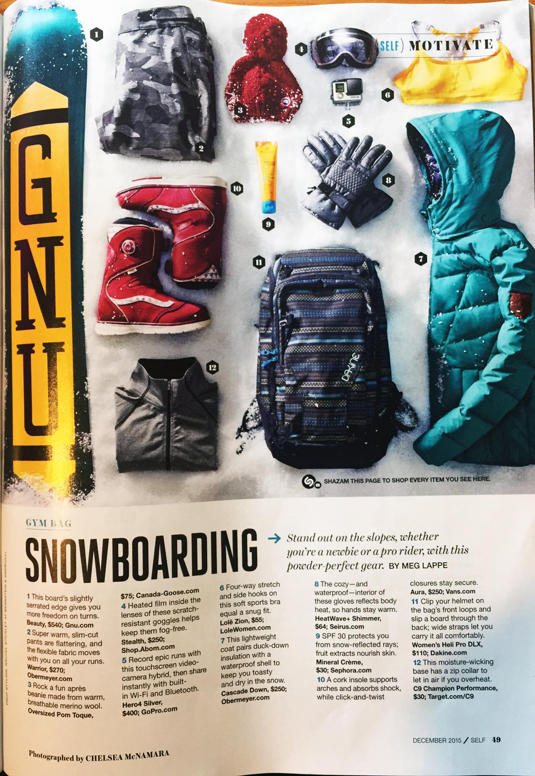 SELF magazine spread