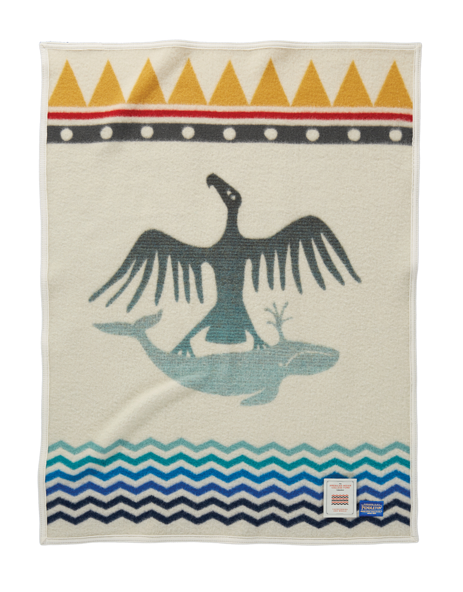 Thunderbird and Whale child's blanket