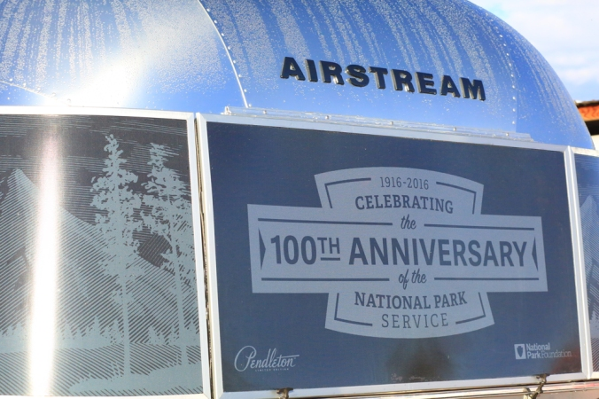 Window cling of the Pendleton Airstream