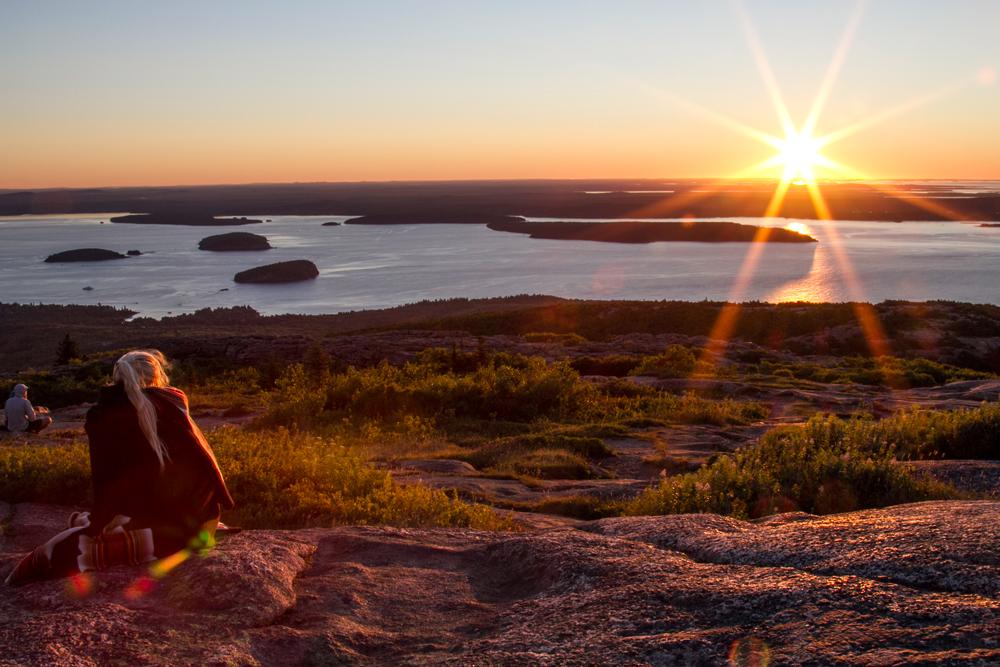 Okoniewski-Waiting for sunrise at Acadia Park.