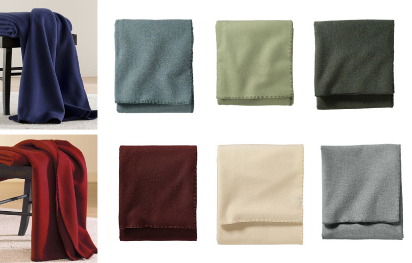all eco-wise wool solid color bed blankets