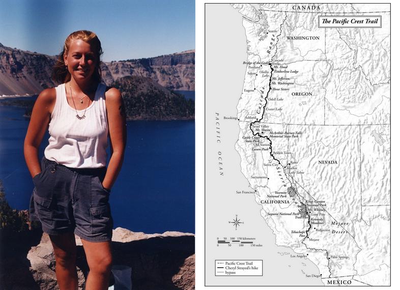 Cheryl Strayed and Map