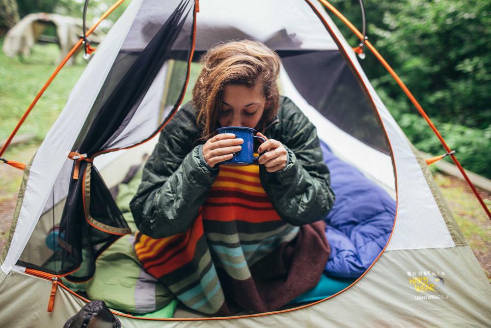 Matthews_ A woman drinks her coffee