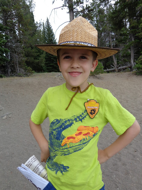 Oliver  at Yellowstone