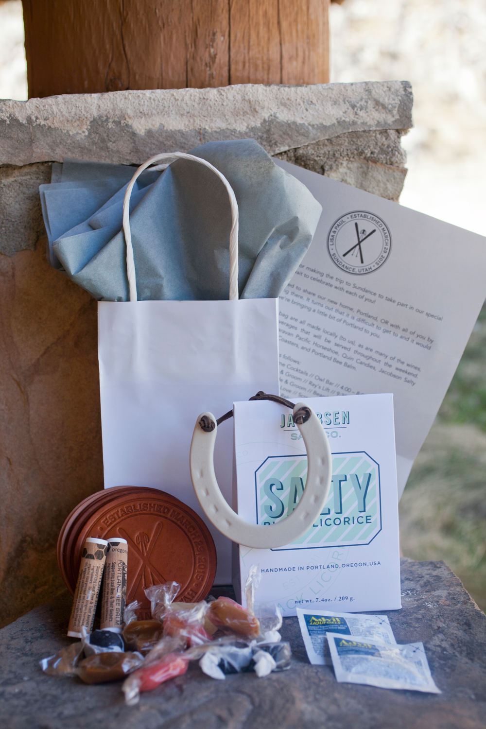 gift bag and contents