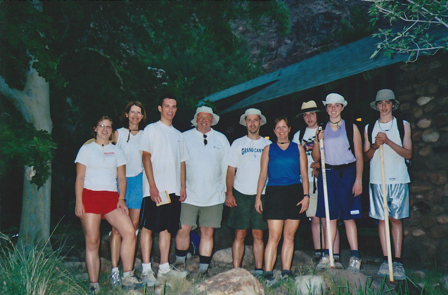 A Family gathering at Grand Canyon Phantom ranch