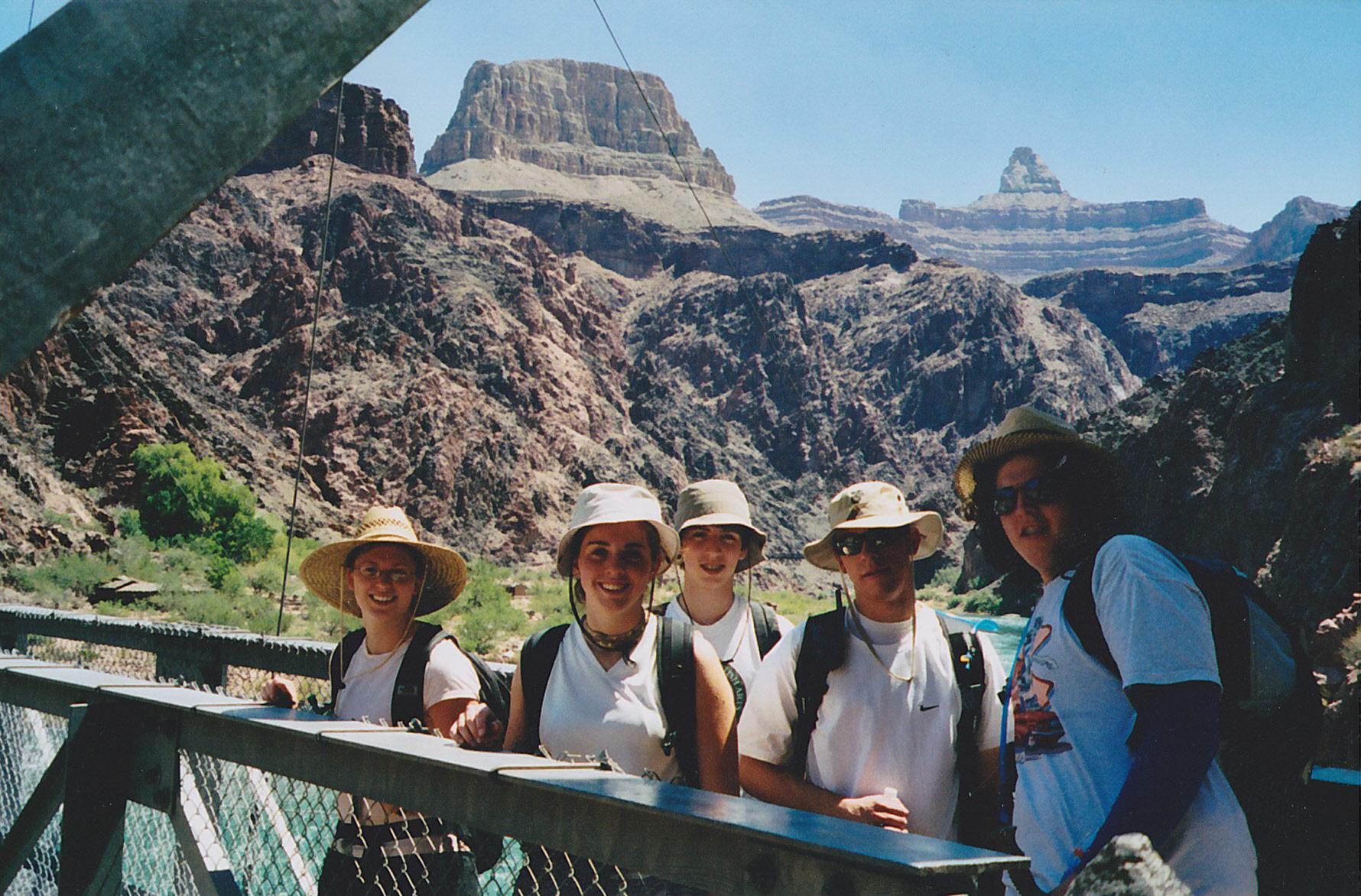 Kids at Silver bridge, Grand Canyon