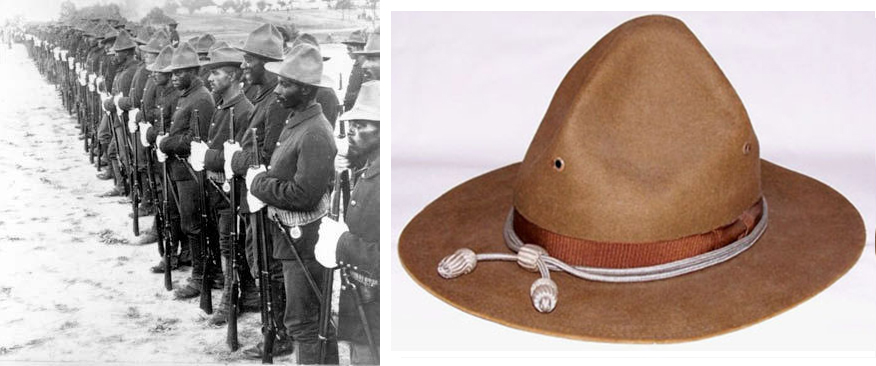 Buffalo Soldiers and a distinctive hat they wore while Liberators_of_Cuba.jpg