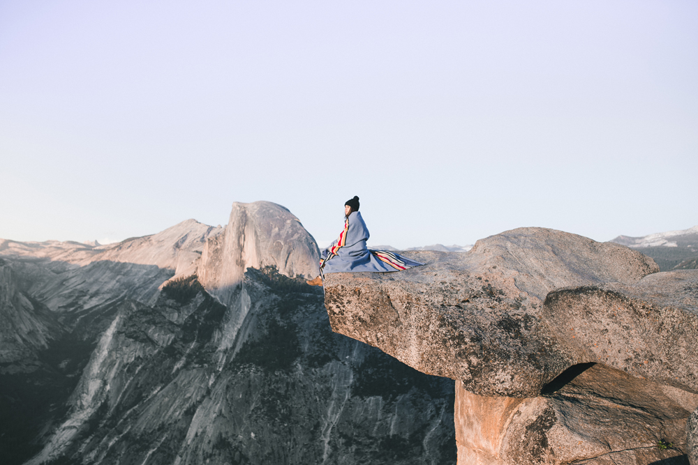 Sitting on a mountaintop - photo by Allie Taylor
