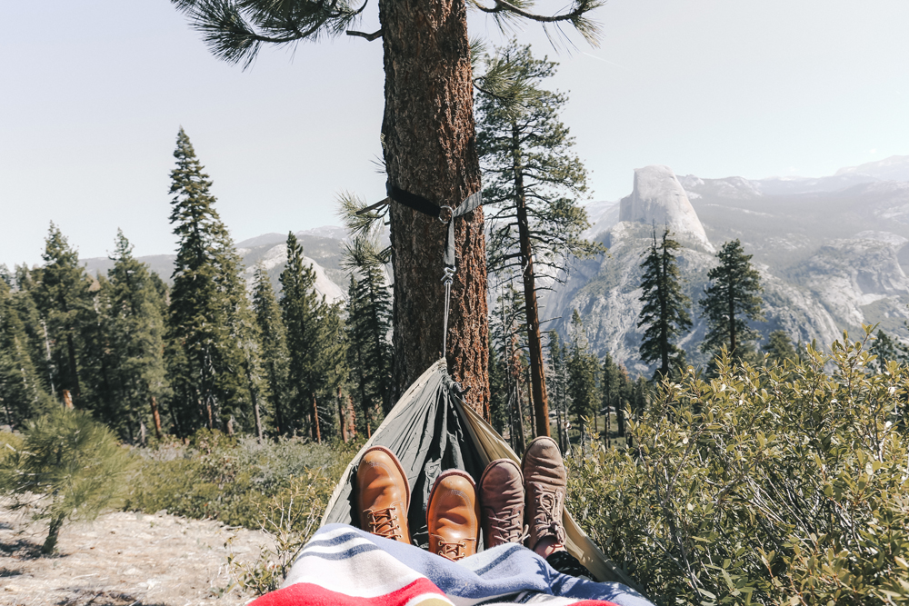 the view of Yosemite in a hammock - photo by Allie Taylor