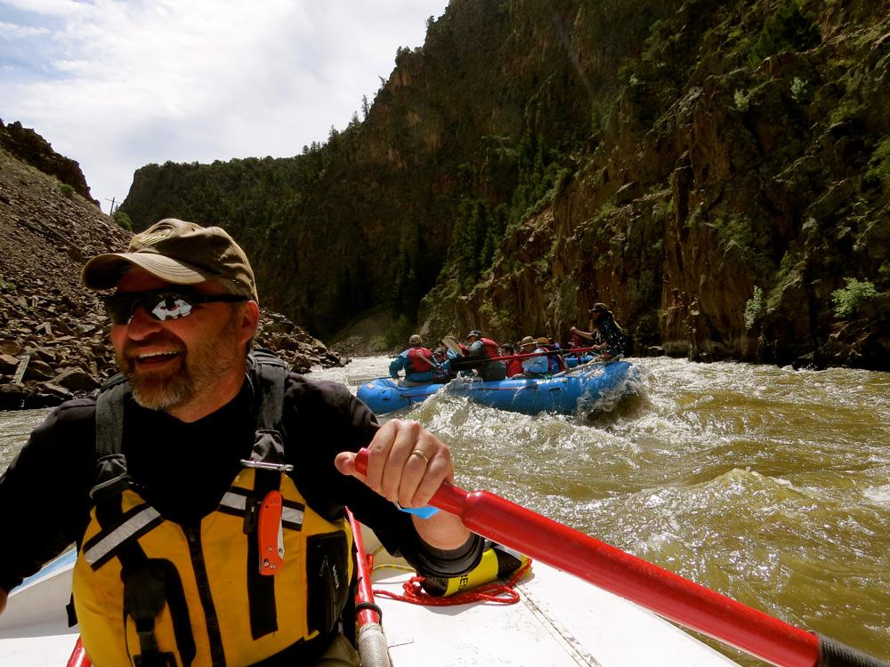 Greg Hatten runs the rapids at Rocky Mountain National Park