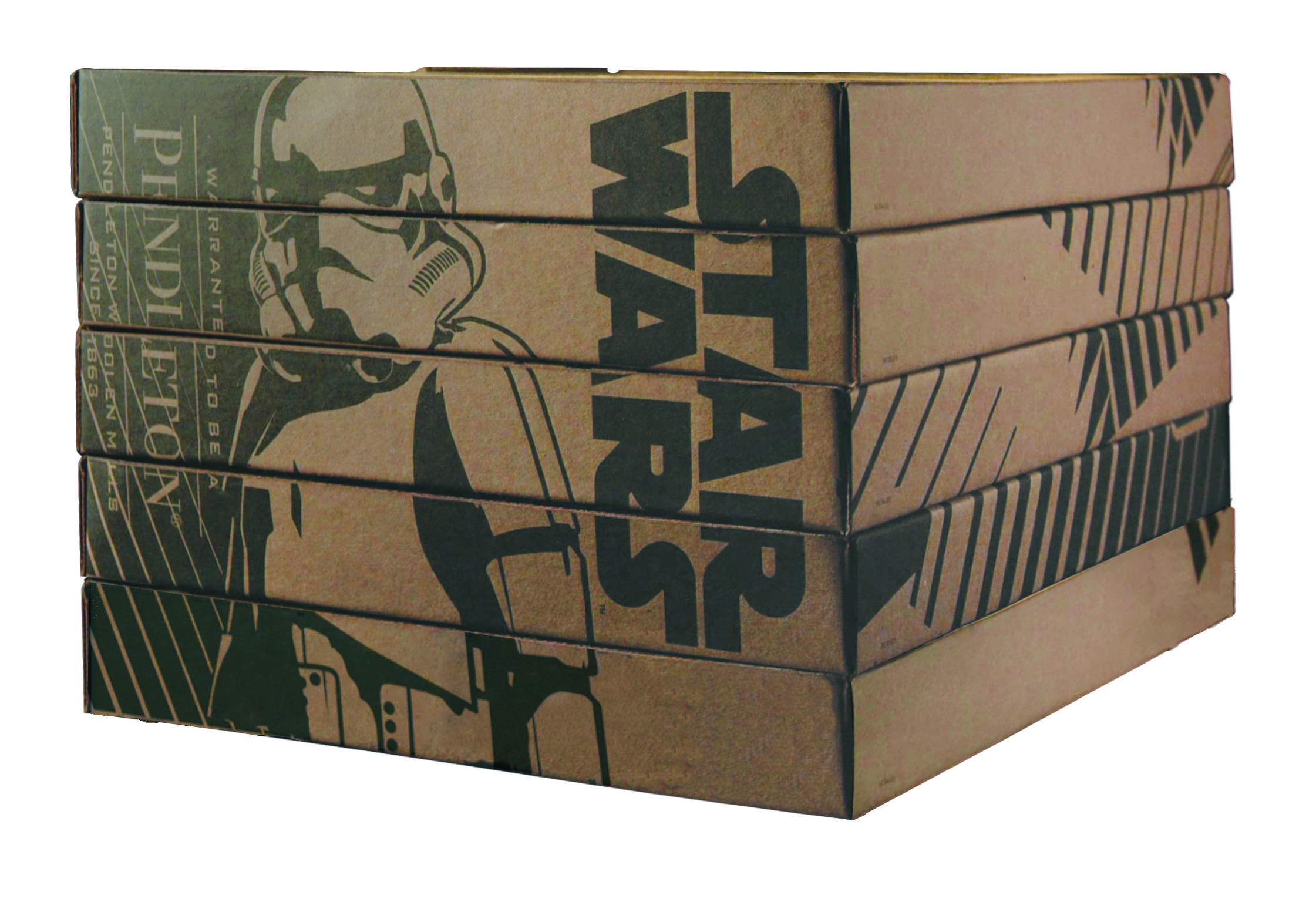 Special stacking boxes for Star Wars blankets