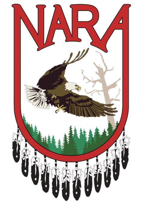 The NARA logo featured a flying eagle.