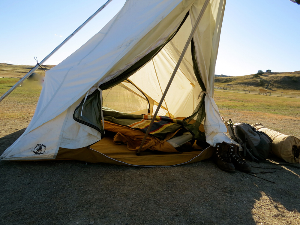 Camping with the Badlands National park blanket by Pendleton