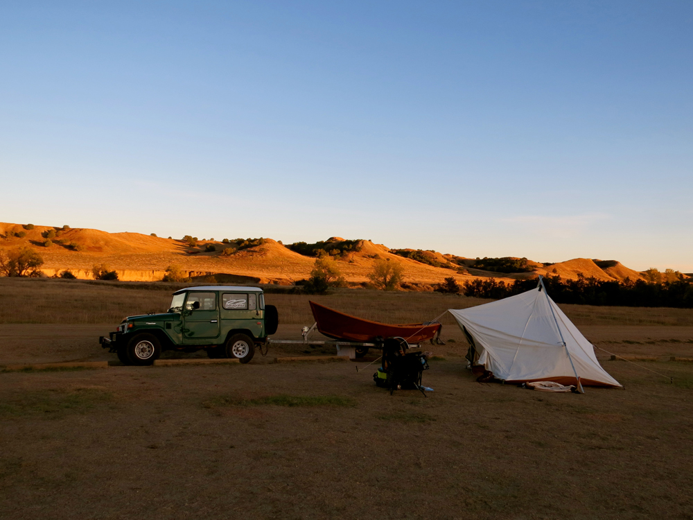 Making camp.