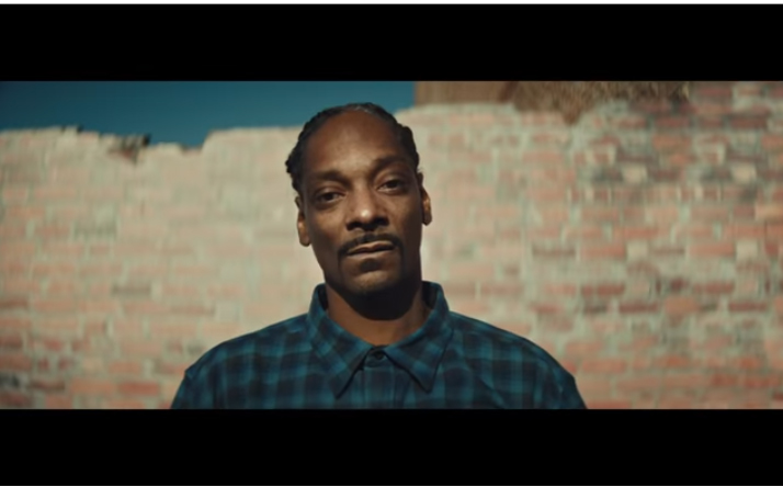 Screenshot of Snoop Dogg in a Pendleton shirt from an Adidas ad