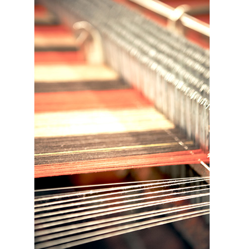 A wool weaving loom