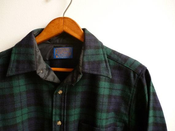 A Pendleton wool shirt in Blackwatch Plaid