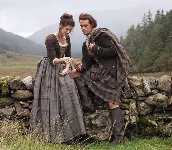 """Jamie and Claire from """"Outlander"""""""