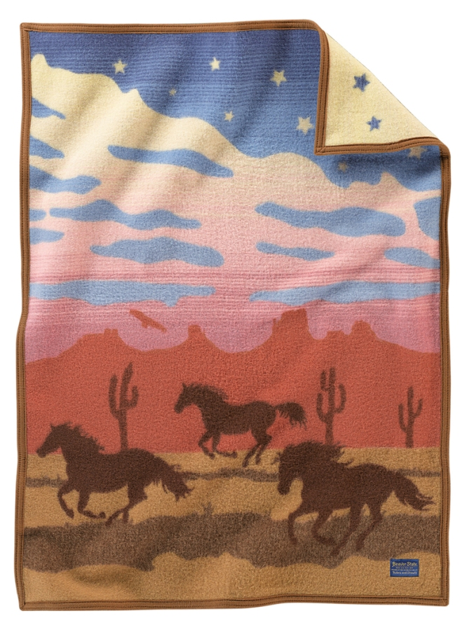 Pendleton Wild Horses child-sized blanket.