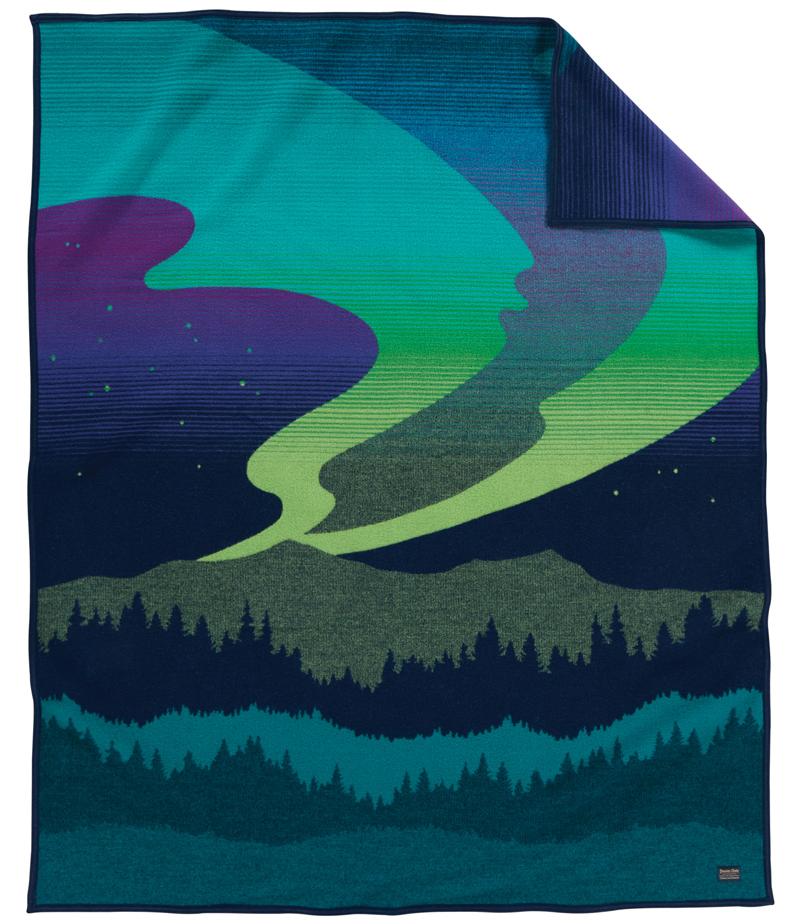 Northern Lights blanket by Pendleton