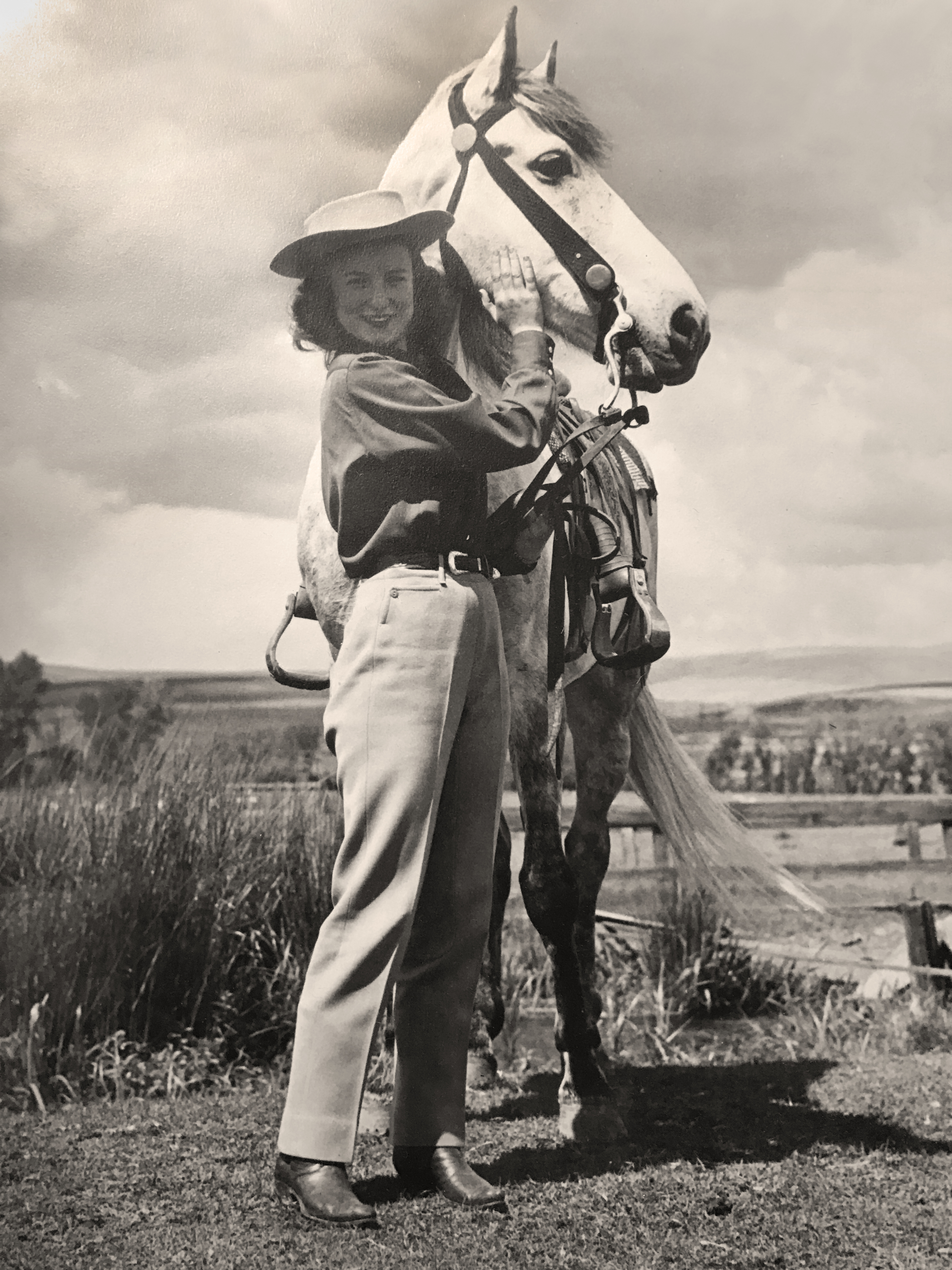 Mea Brock as a Pendleton Round-Up Princess in 1945.