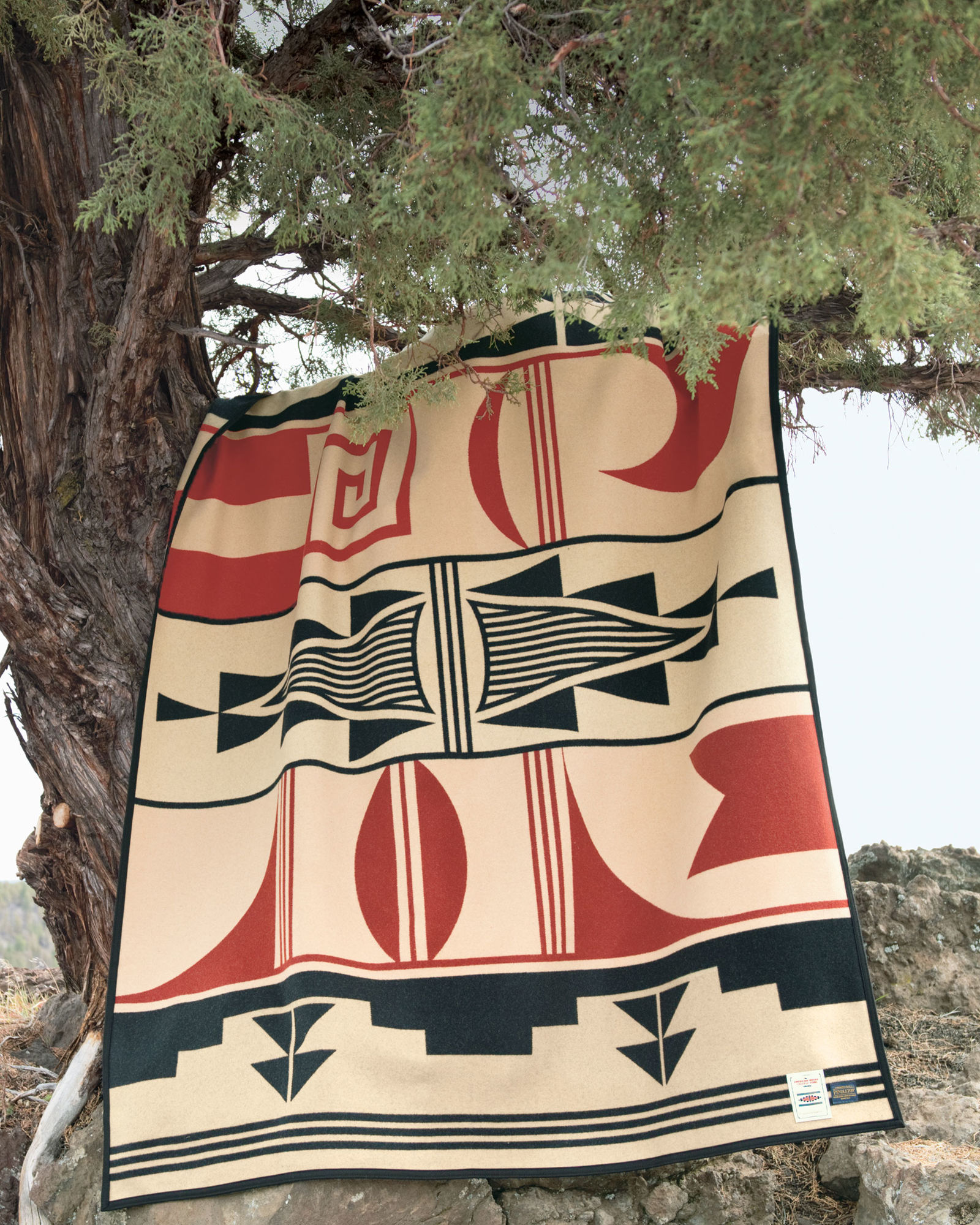 The Pendleton Gift of the Earth blanket for the College Fund.