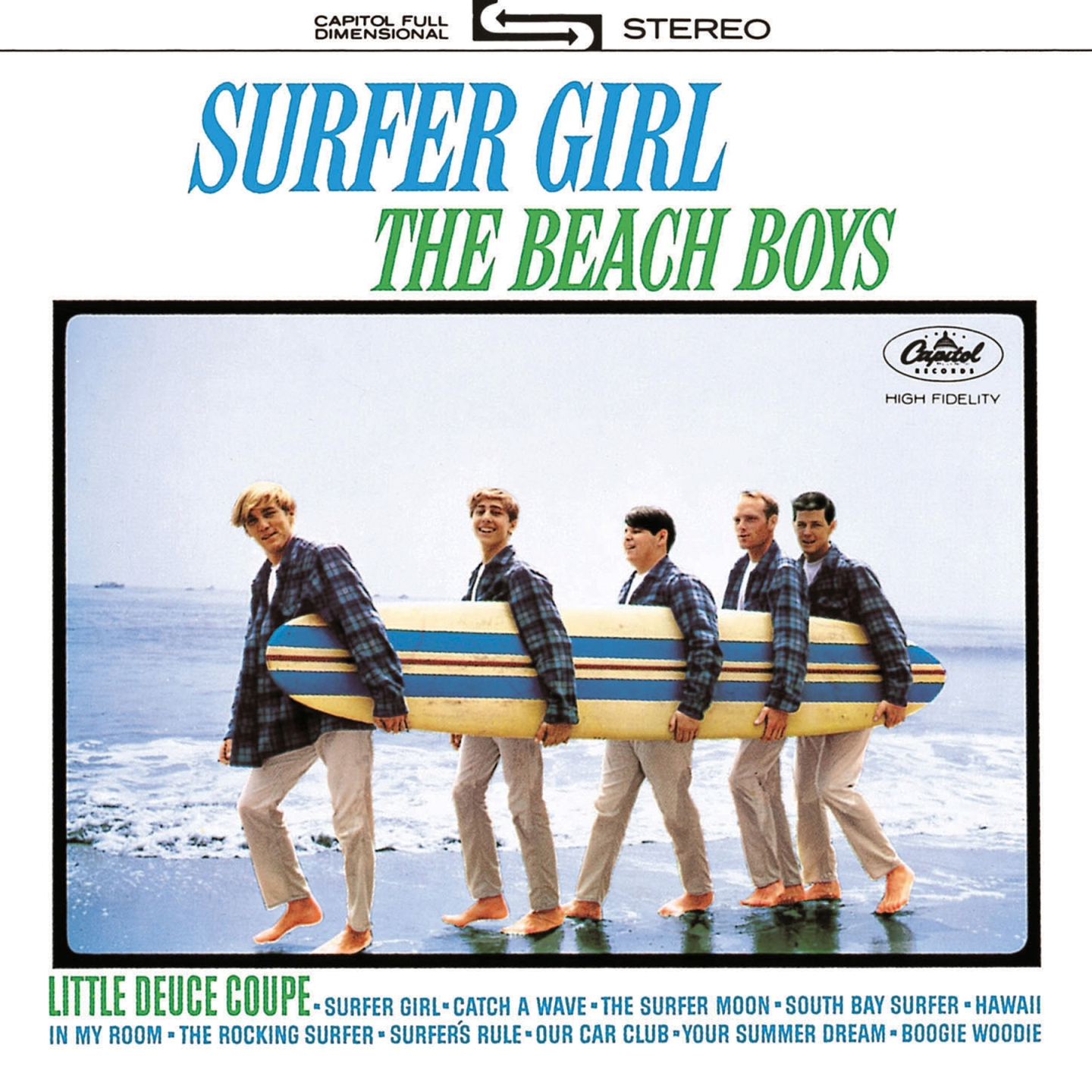 Cover of the SURFER GIRL album by the Beach Boys