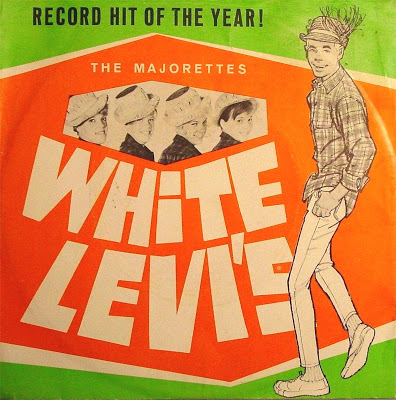 """The cover of """"White Levi's,"""" a 45 released by the Majorettes."""