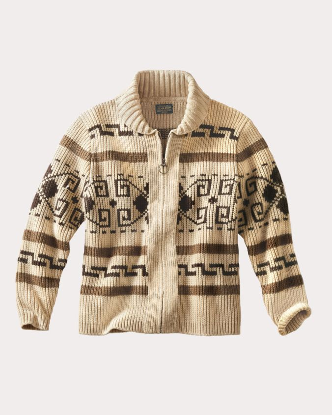 "Pendleton's Westerley Cardigan aka the ""Dude"" sweater from ""The Big Lebowski."""