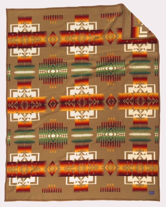 The Chief Joseph blanket by Pendleton Woolen Mills.