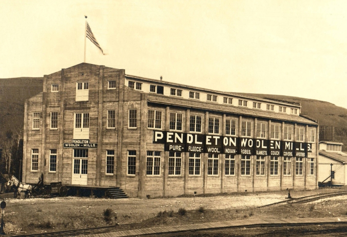 The original (and current) Pendleton WOolen Mill in Pendleton, Oregon.