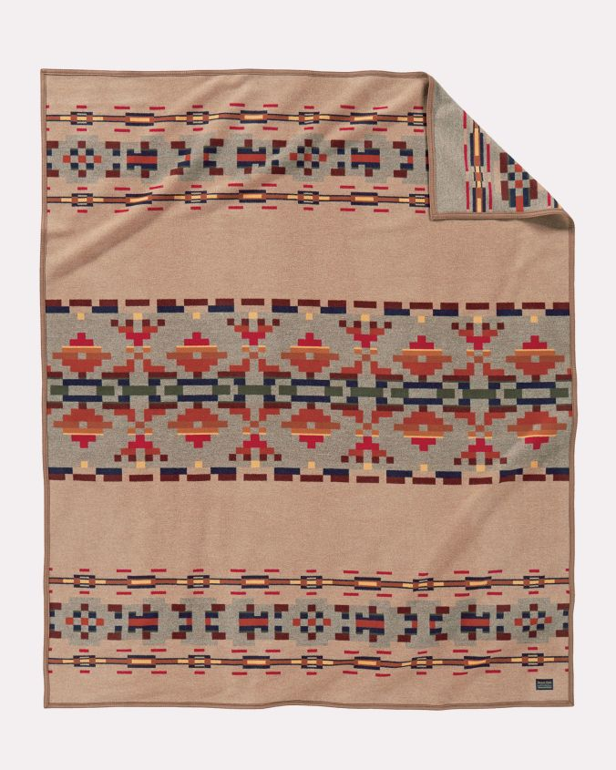 The Painted Hills blanket by Pendleton Woolen Mills.