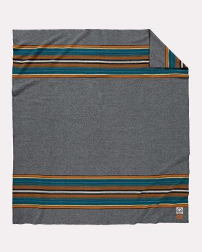 The Pendleton Olympic national Park blanket, laid flat.