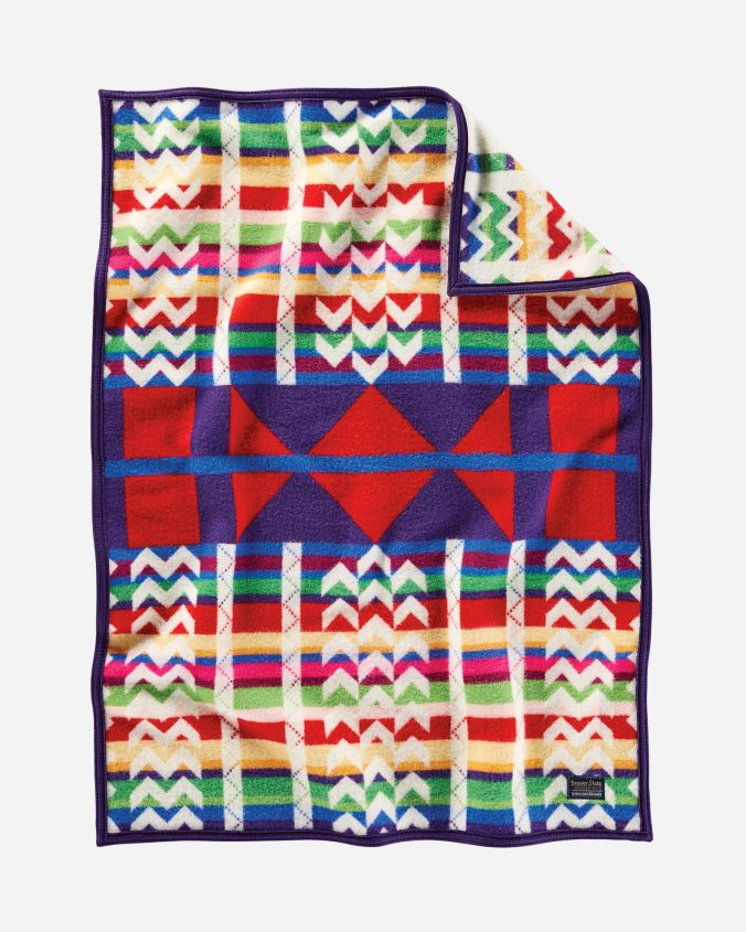 Pendleton blanket, Morning Cradleboard, designed by artist Wendy Ponca.