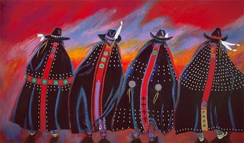 "The original artwork, ""Rodeo Sisters,"" by Susana Santos. All Rights Reserved."