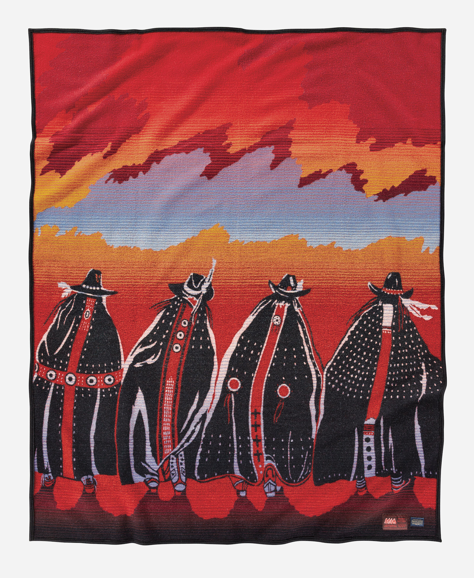 "Front view of ""Rodeo Sisters"" blanket"