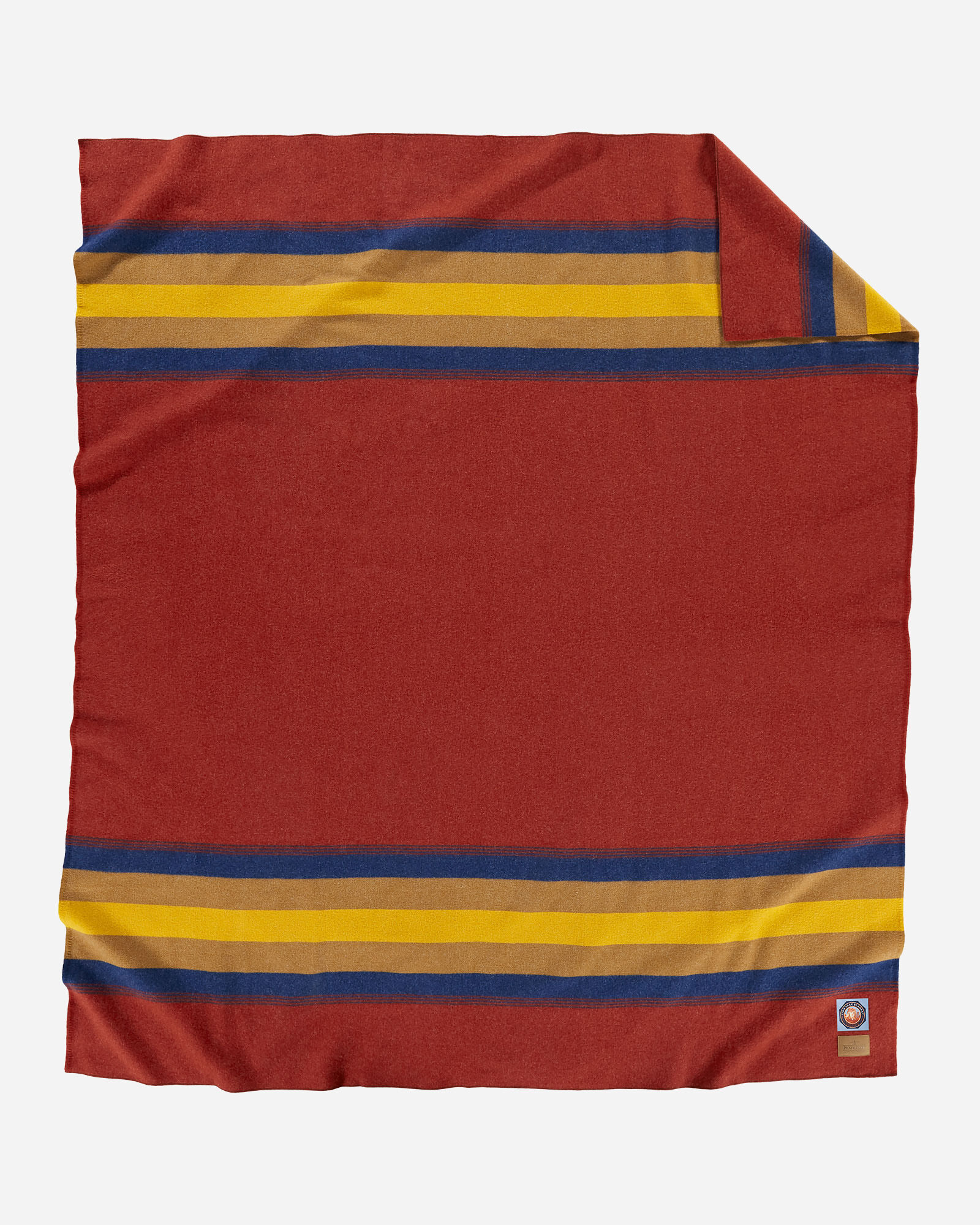 Pendleton Zion National park blanket in deep rusty red.