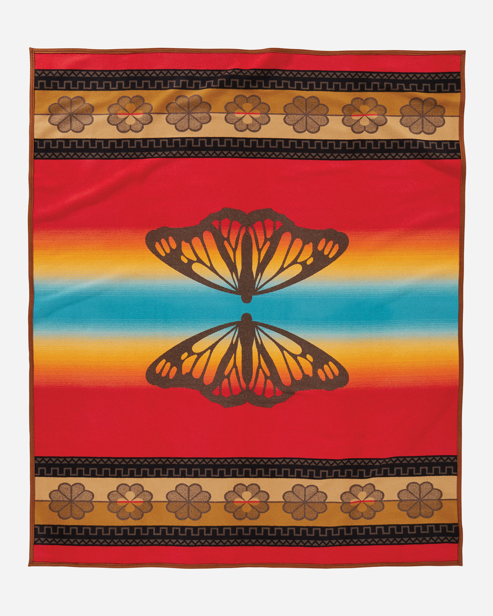Pendleton Butterfly blanket-reverse view