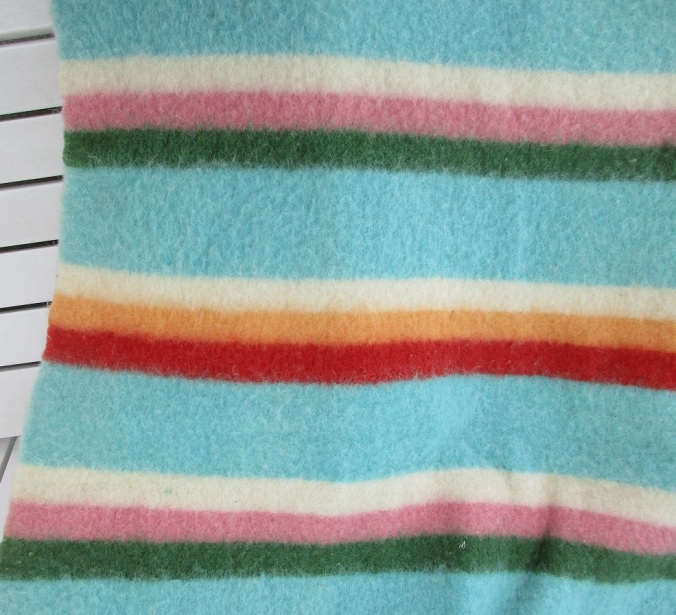 A closer view of the stripes on the 1926 debut of the Pendleton Zion National Park blanket.