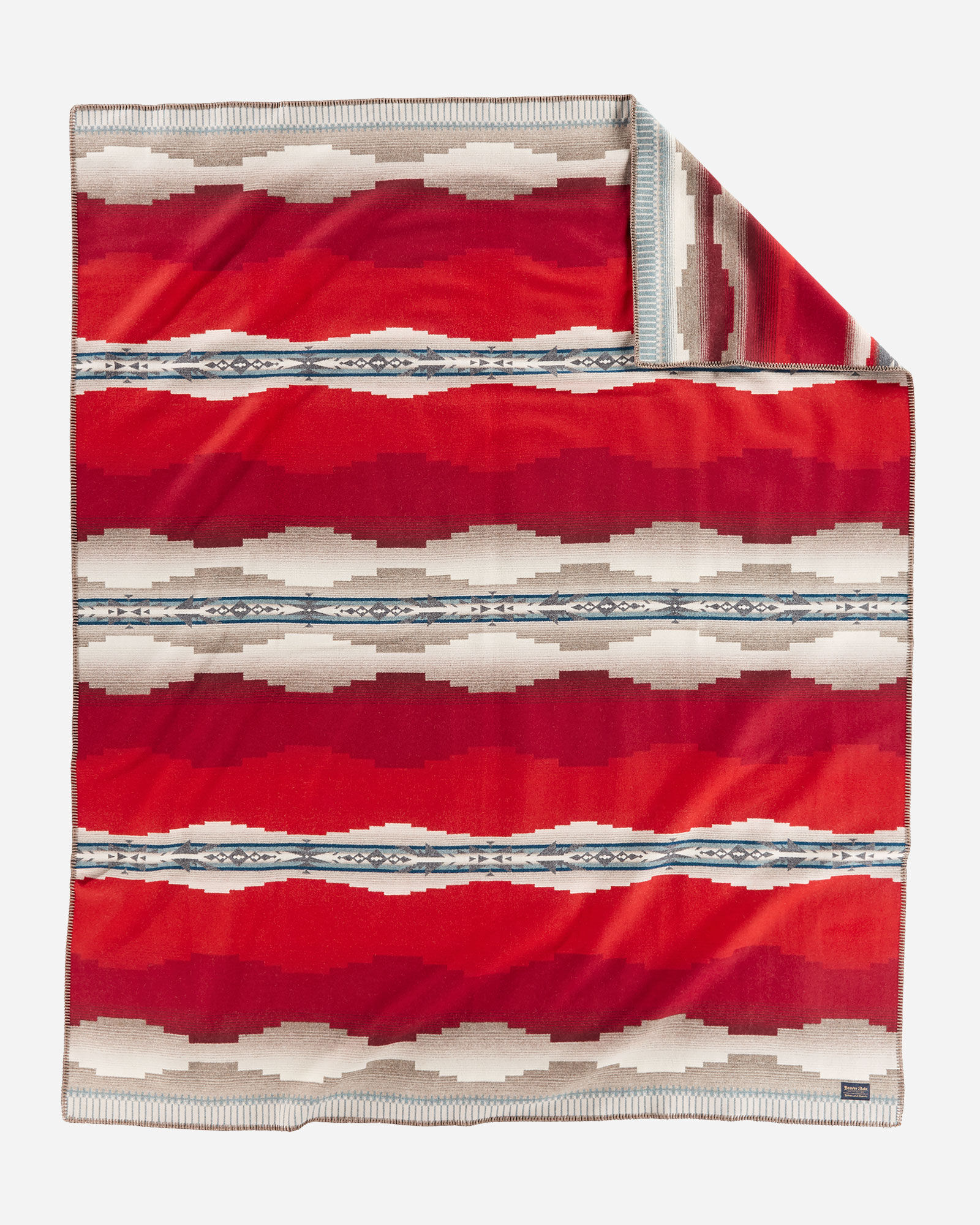 The Alamosa blanket by Pendleton - red, beige, blue