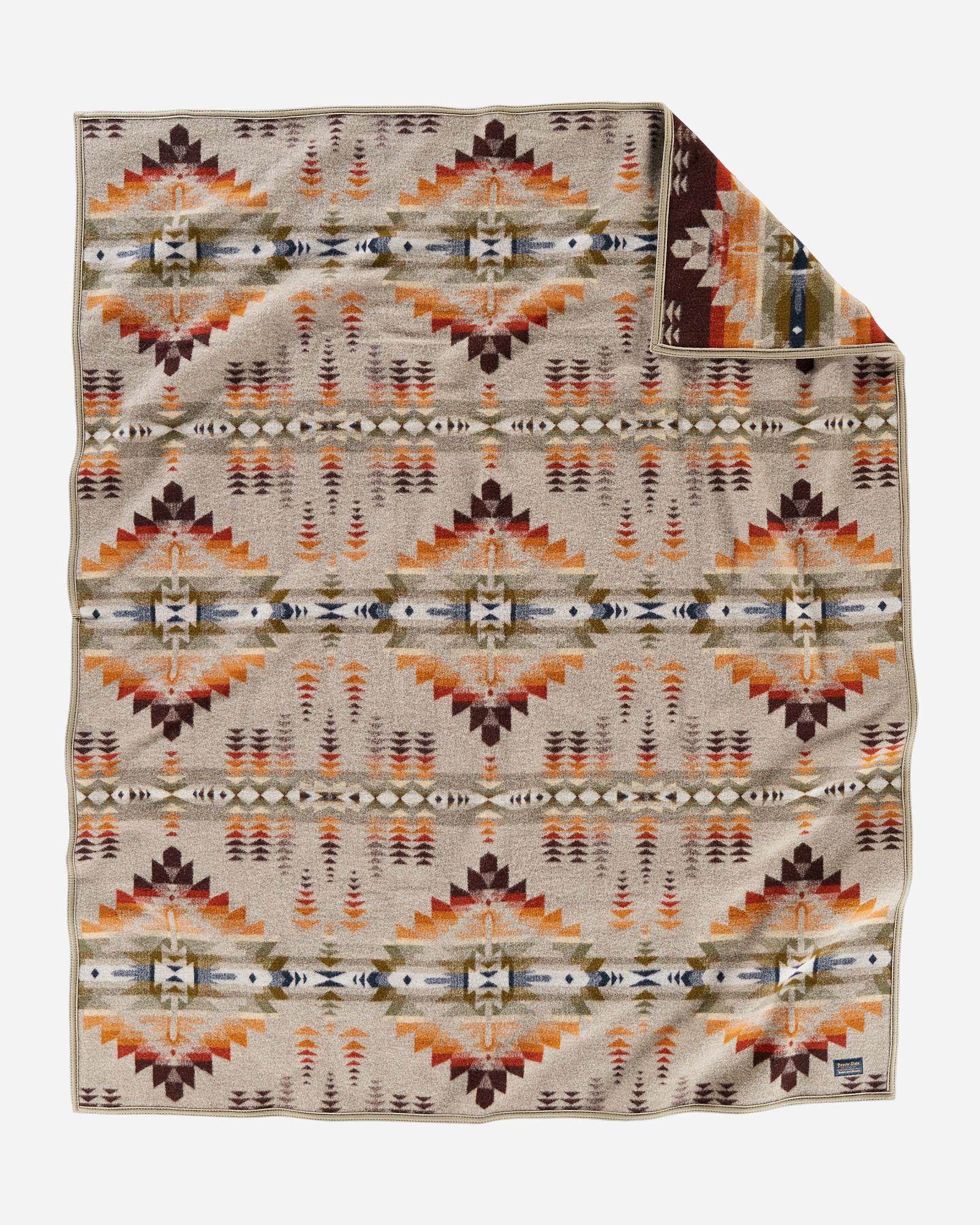 Juniper Mesa blanket by Pendleton - beige diamond designs