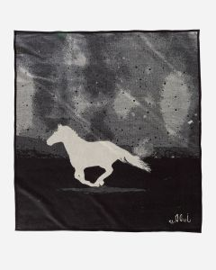 The reverse side of A Horse Called Paint, a blanket for Pendleton Woolen Mills designed by artist Judd Thompson.