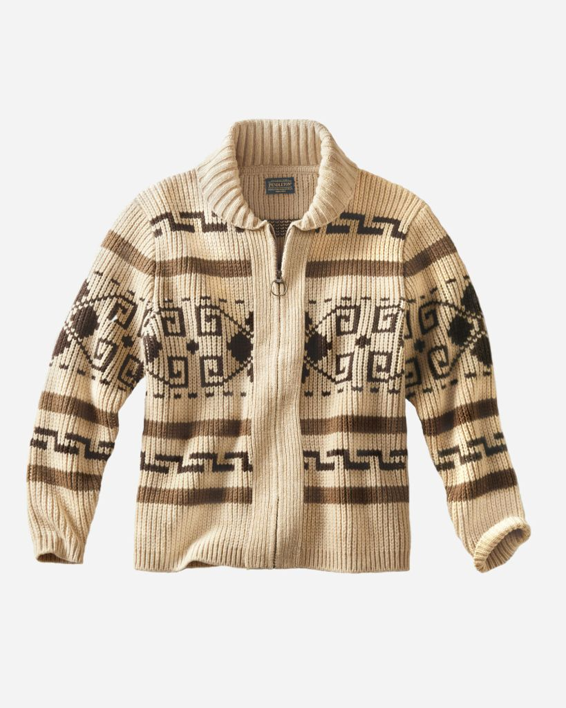 "The Westerley cardigan by Pendleton - AKA the Dude's cardigan in ""The Big Lebowski."""