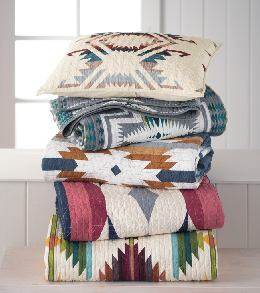 Pendleton cotton quilts and coverlets.