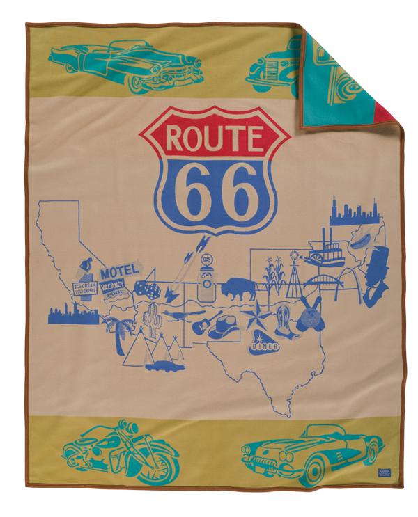 Route 66 blanket - so Americana!